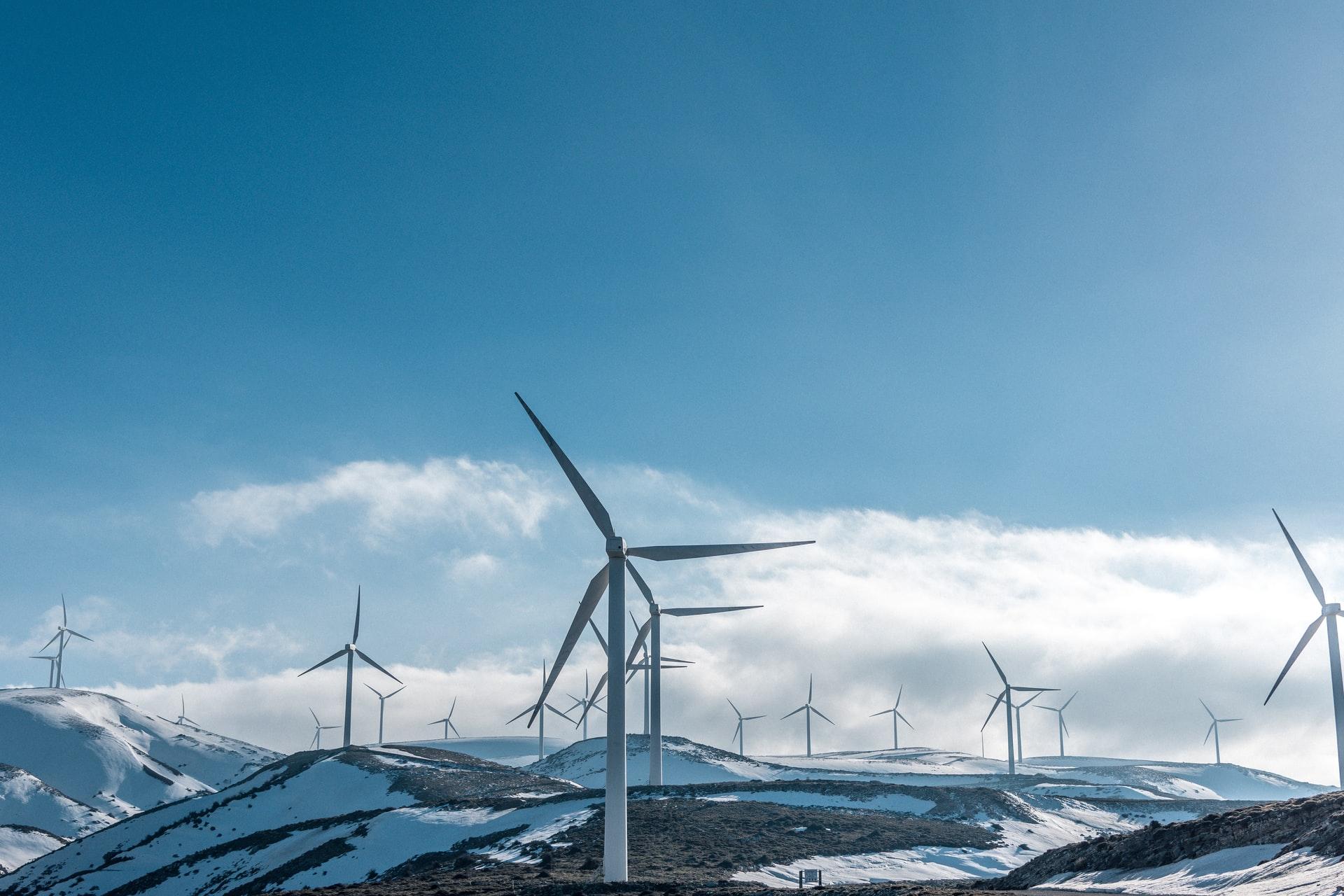 duurzame energie opgewekt op bergen