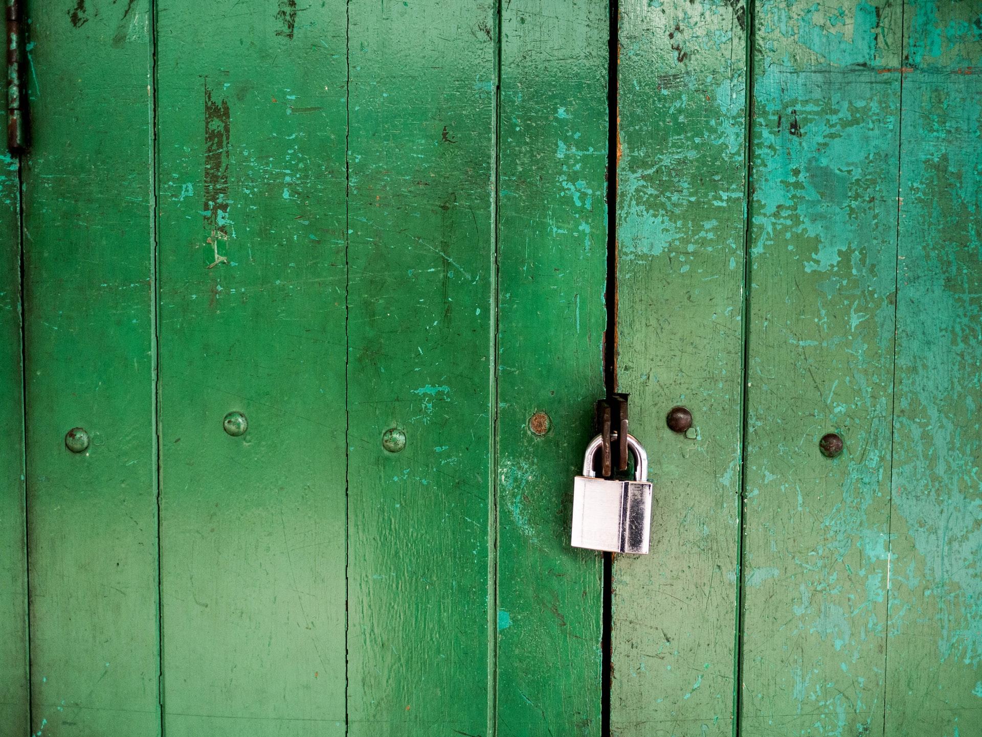 slot groene deur
